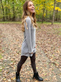 Waffle Cowl Neck Dress - Cozy Calla Lily Boutique