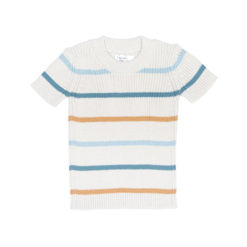 Cotton Knit Striped Top