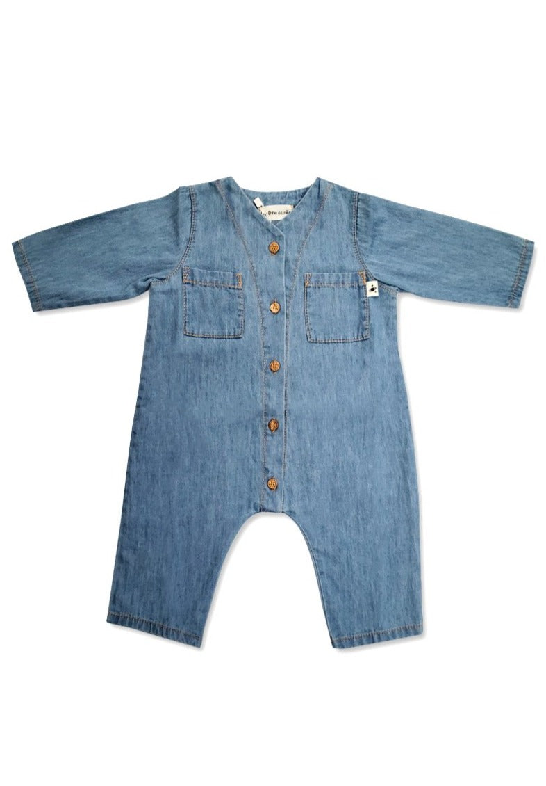 Noah Chambray Baby Jumpsuit