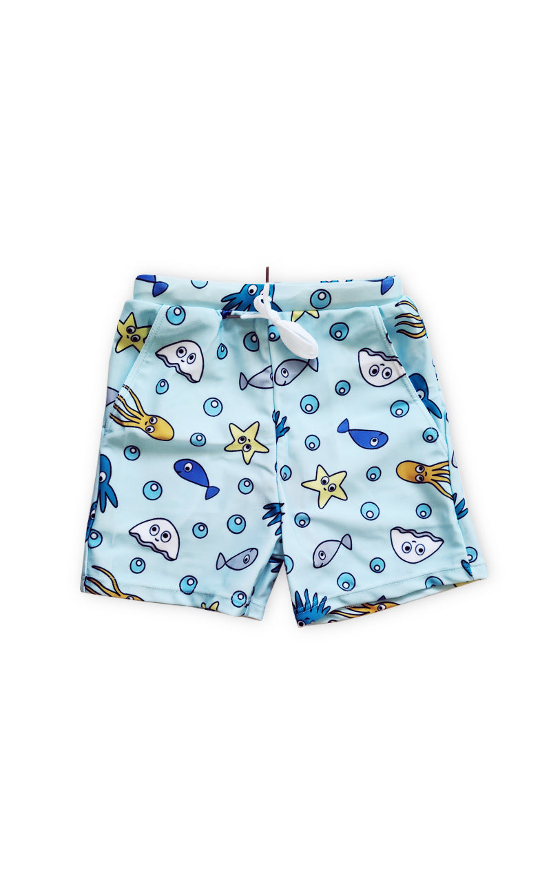 Silly Sea Faces Board Shorts