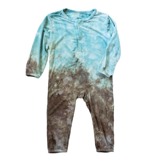 green, blue, tie dye baby boy onesie, playsuit, romper