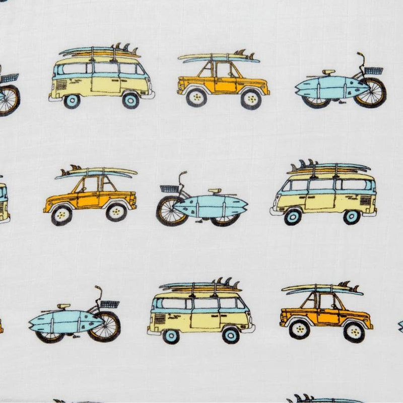 Surf Mobiles Swaddle Blanket