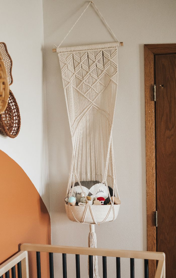Macrame Hanging Toy Basket