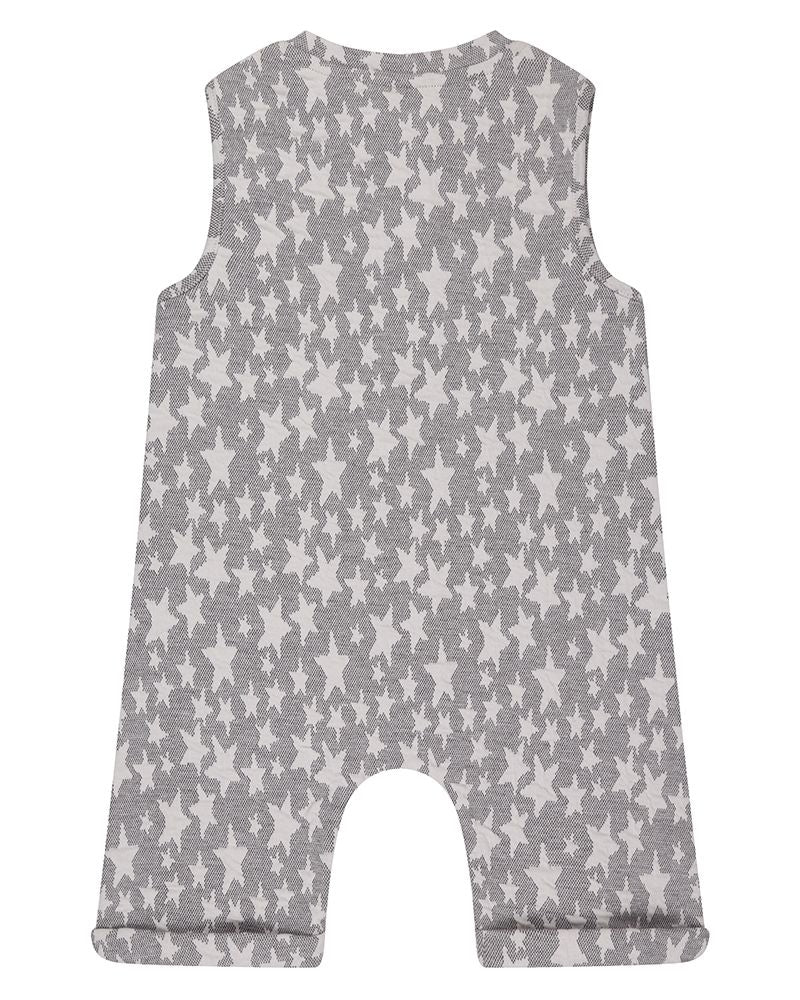 Starfish Jaquard Shortie Tank Dungaree