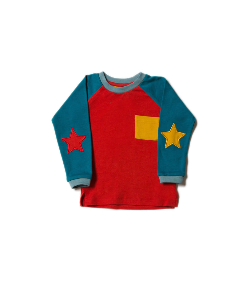 Teal Star Long Sleeve Tee