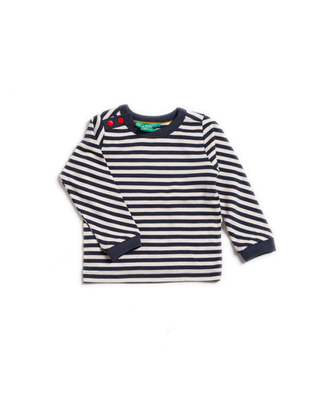 Navy Stripes Long Sleeve Tee