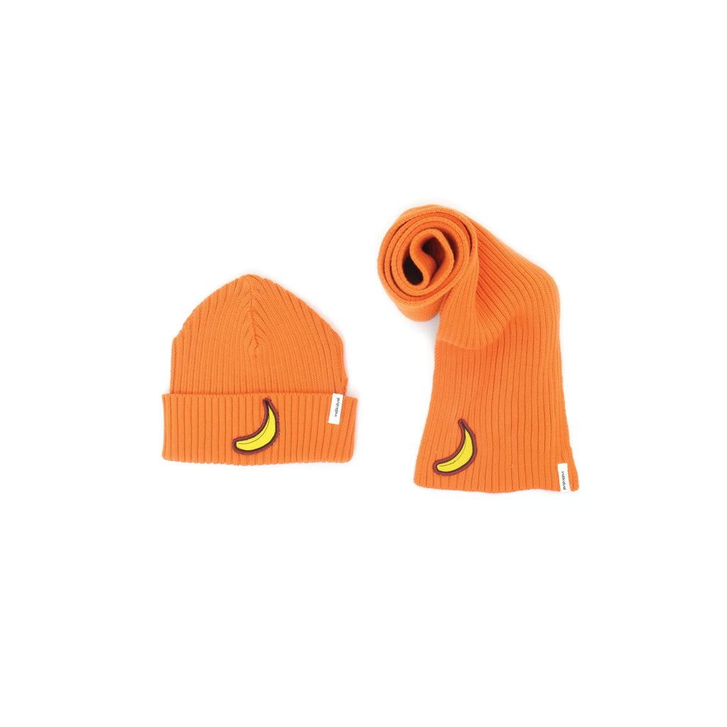 Banana Patch Beanie and Scarf Set