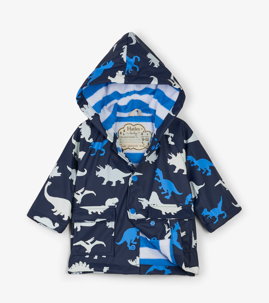 Color Changing Raincoat in Dino Herd
