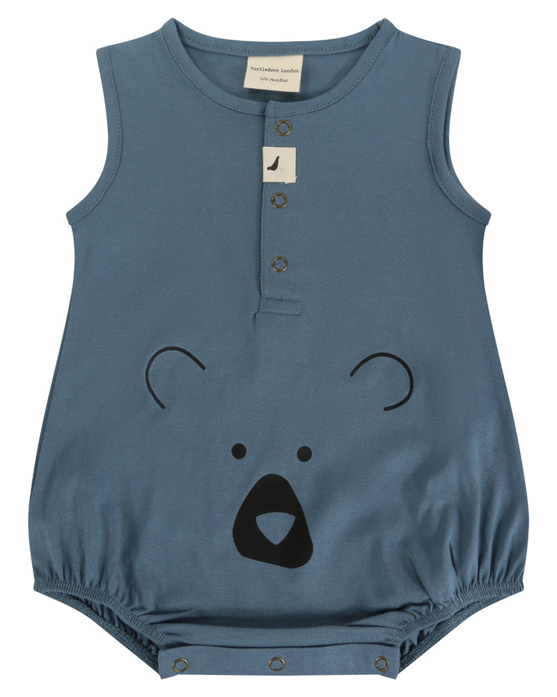 Bear Head Bubble Romper