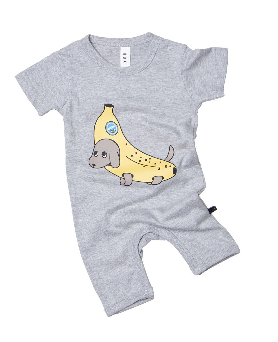 Banana Dog Short Romper