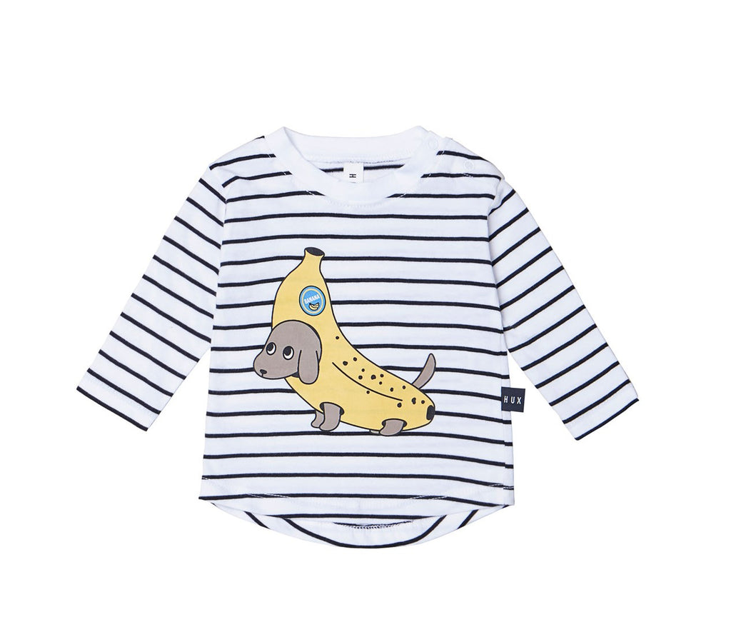 Banana Dog Stripe Top