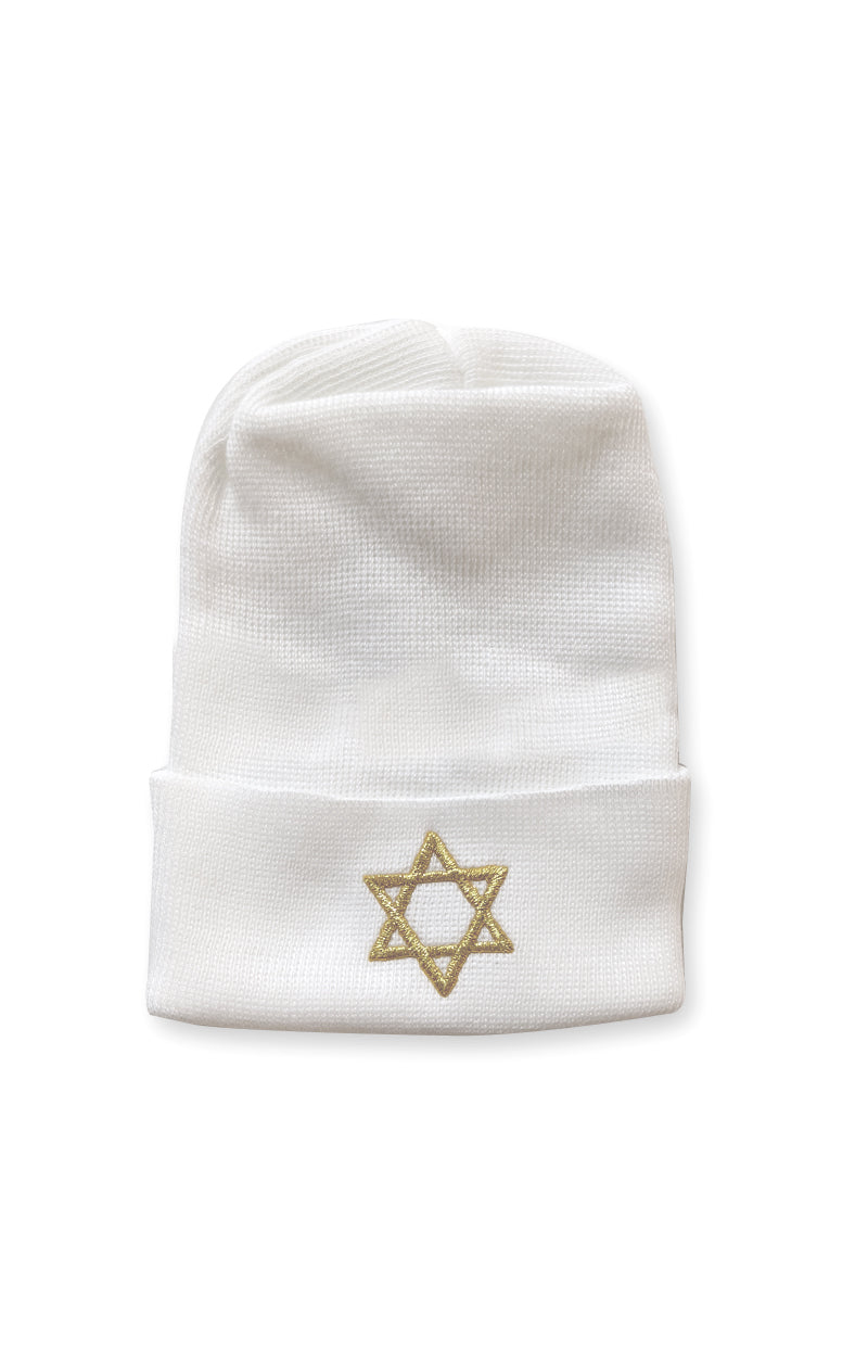 Star of David Newborn Beanie
