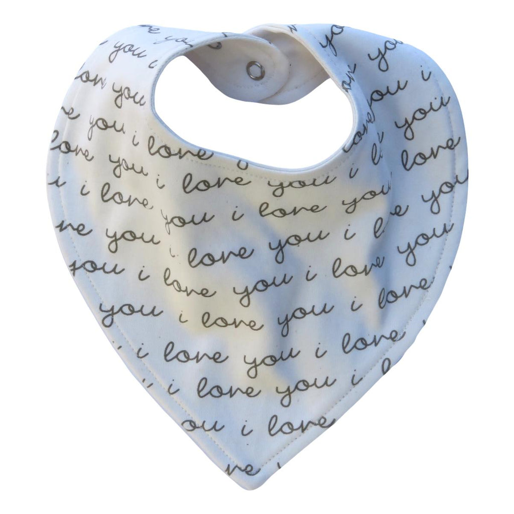I Love You Bandana Bib