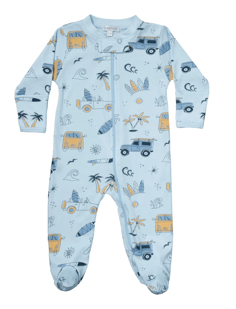 Surf Zipper Footie Pajama