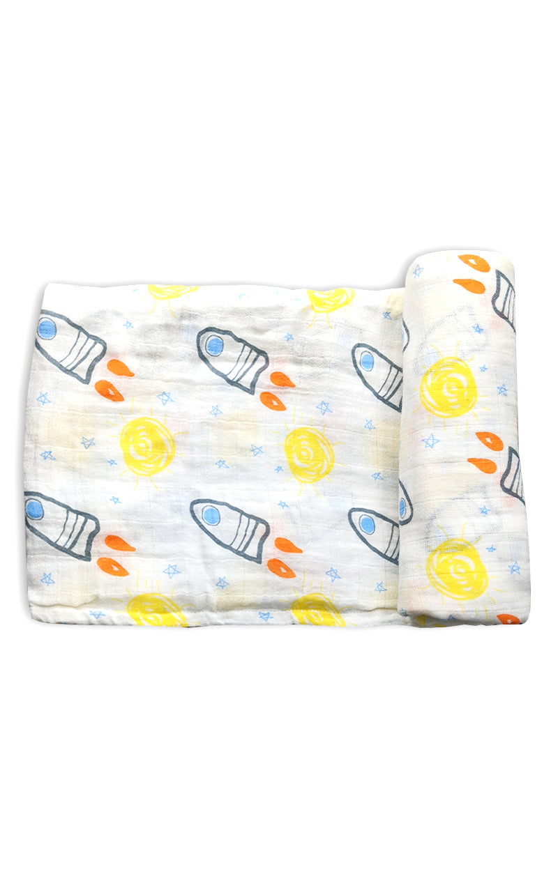 Space Ships Swaddle Blanket