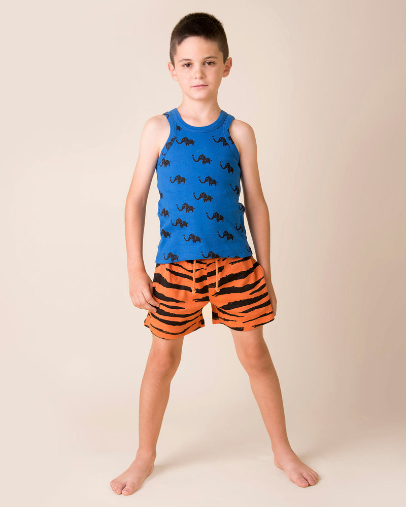 Tiger Skin Bermuda Shorts