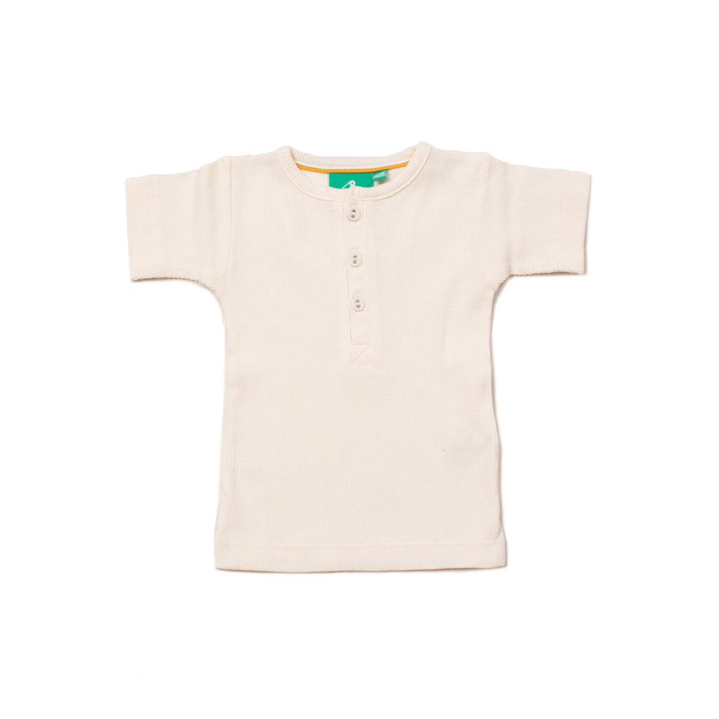 Cream Rib Essential T-Shirt