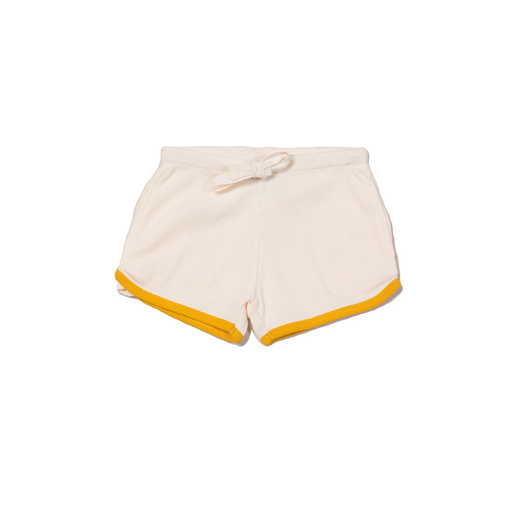 Cream Rib Essential Shorts