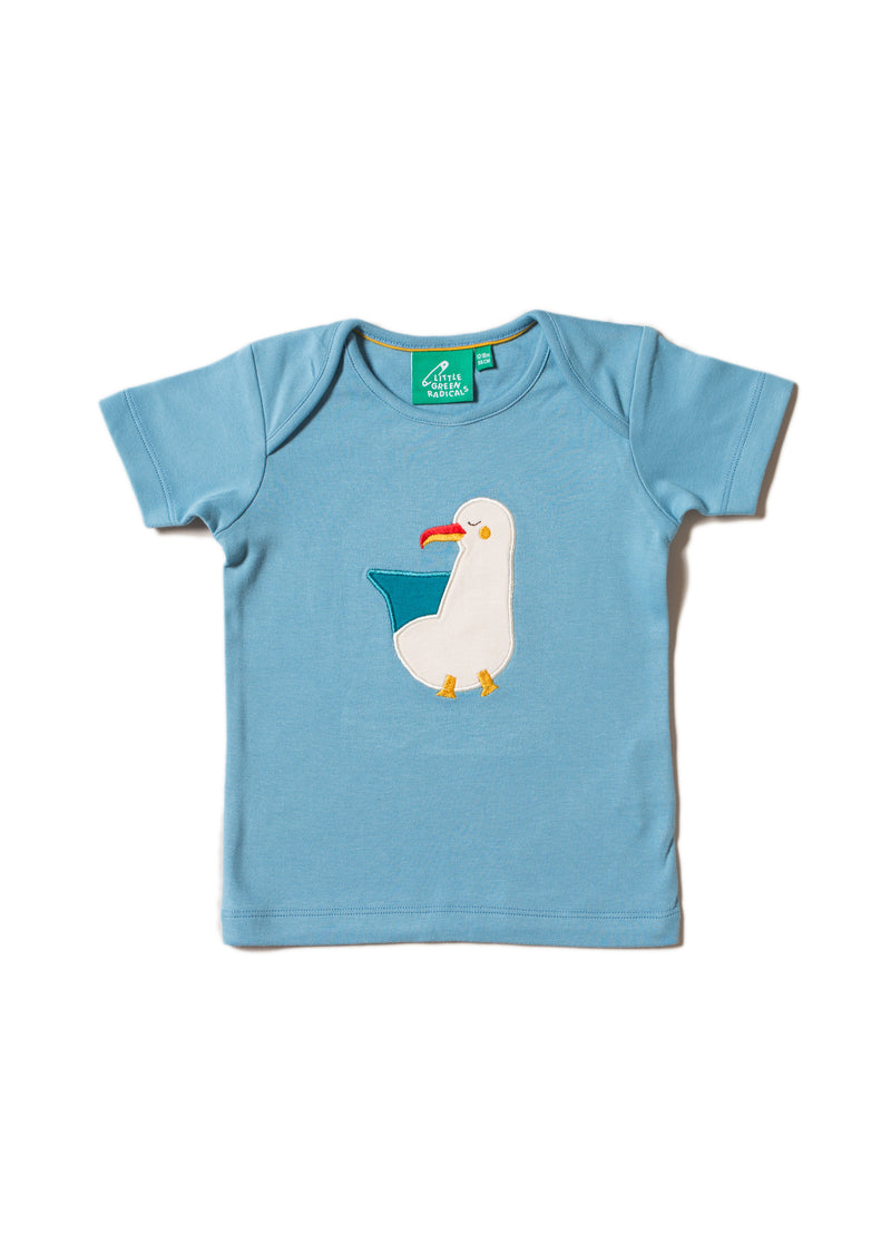 Sunshine Seagull Applique Tee