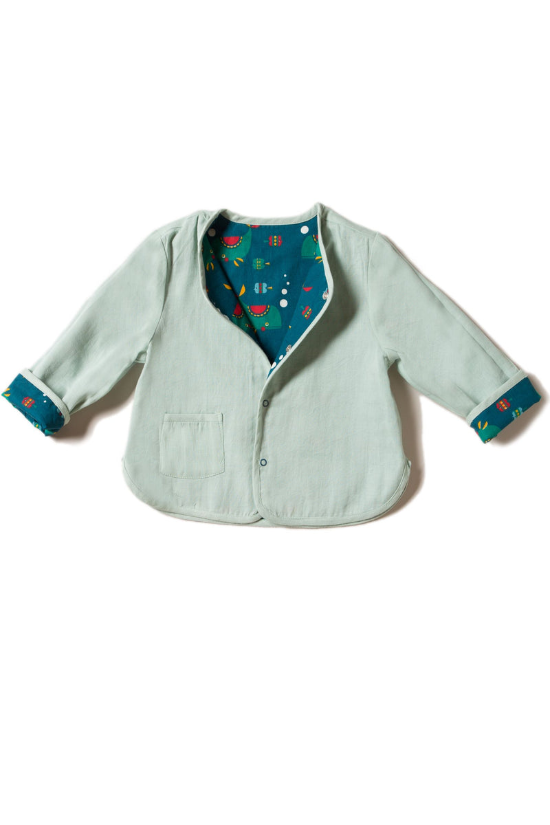 Whale of a Time Reversible Spring Jacket