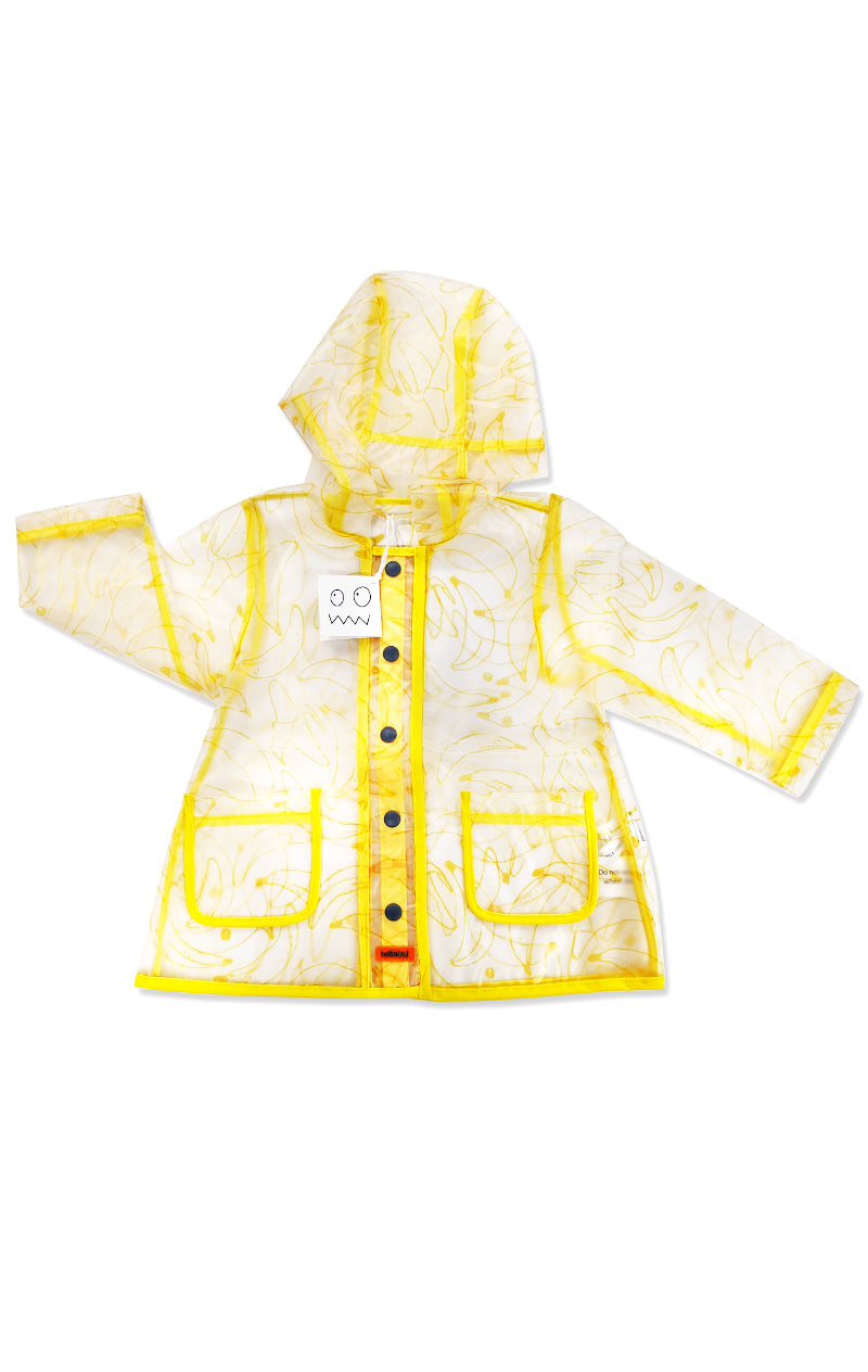 Banana Print Clear Rain Coat