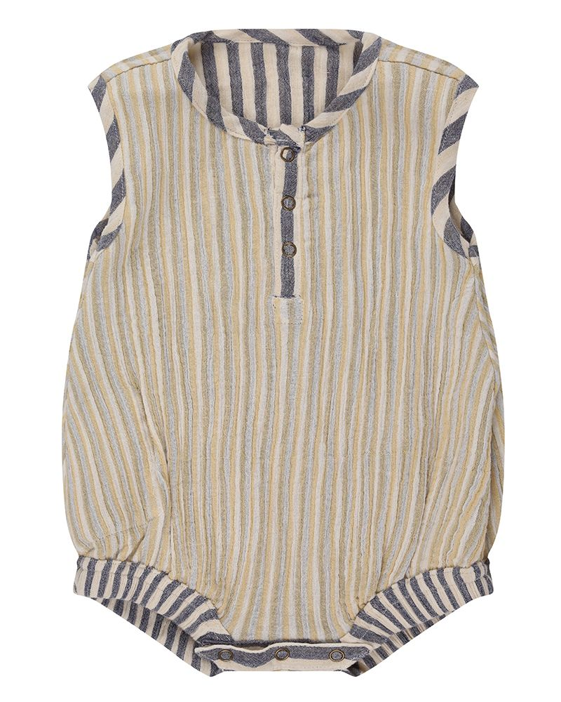 Reversible Crinkle Stripe Bubble Romper