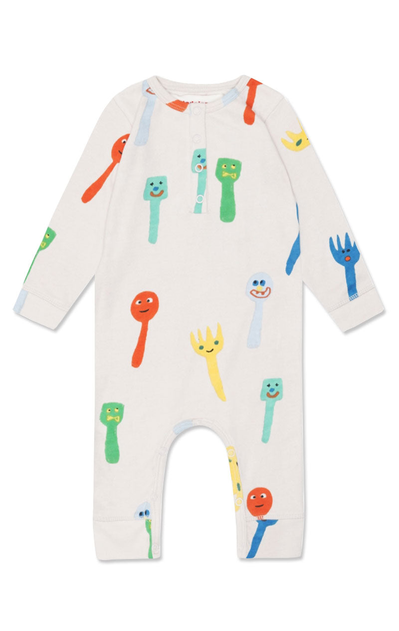 Crazy Forks & Spoons Playsuit