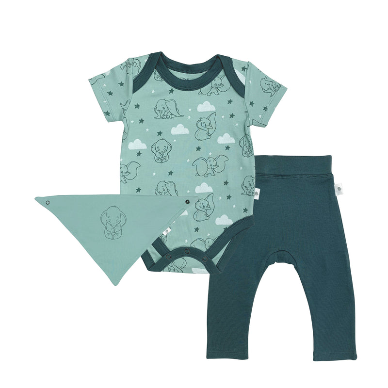 Dumbo Bodysuit, Pant & Bib Set