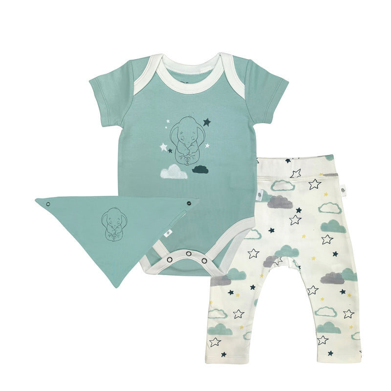Dumbo Bodysuit, Pant and Bib Set
