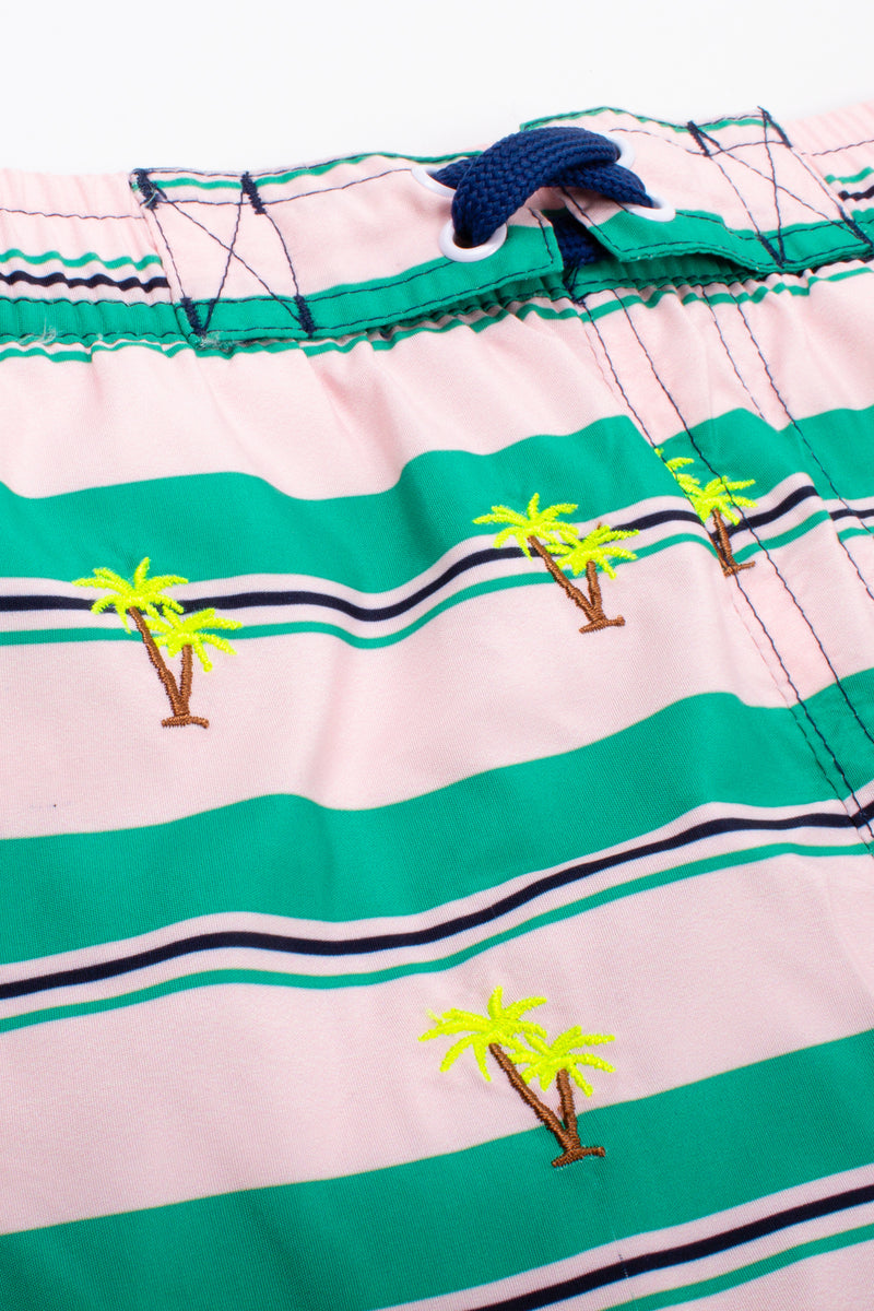 Embroidered Palms Swim Shorts