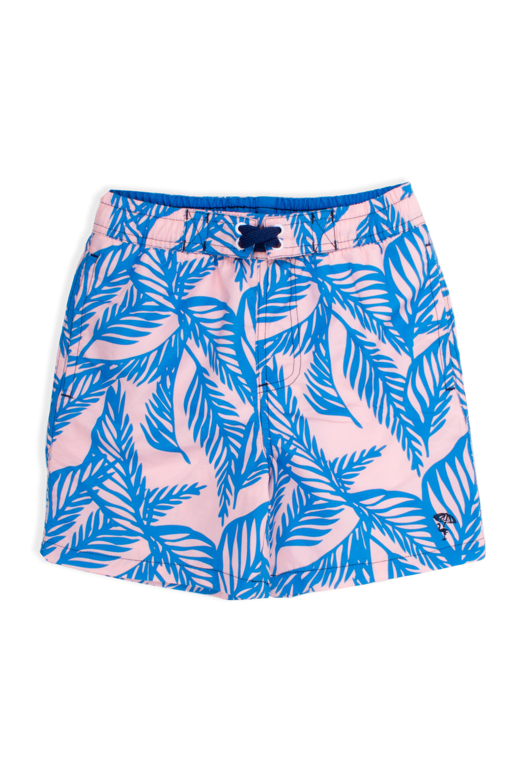 Blue Palm Swim Shorts