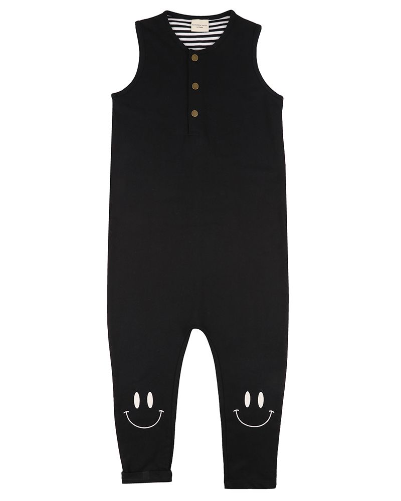 Smiley Knee Tank Dungaree