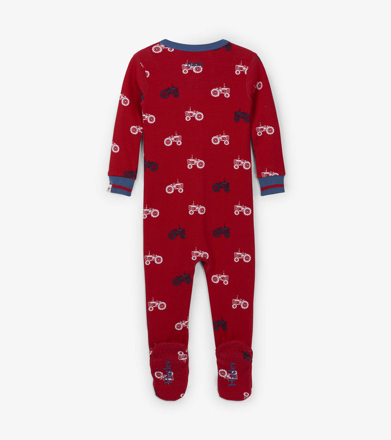 baby boys pajama with footed bottom