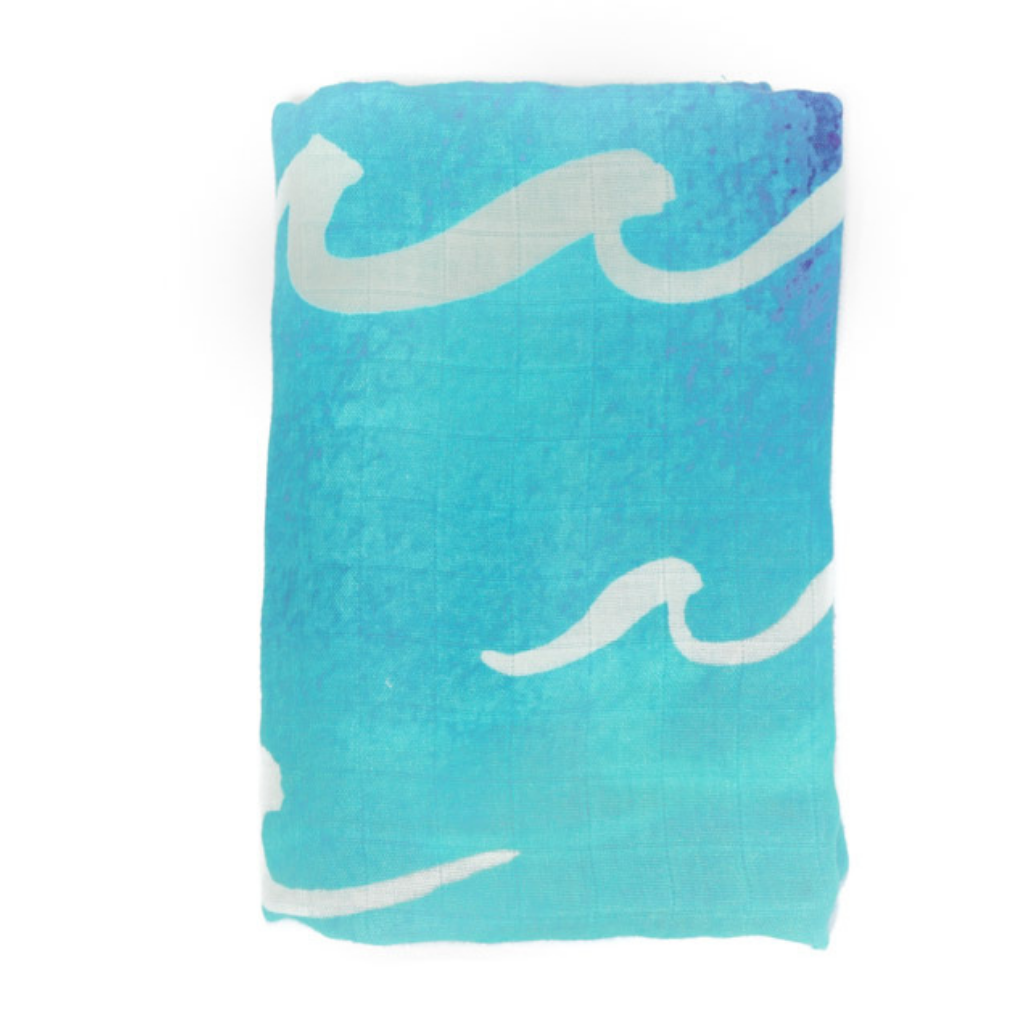 Nalu Ocean Waves Swaddle Blanket