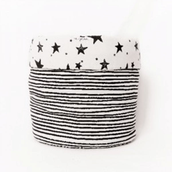 Black Stars Storage Basket