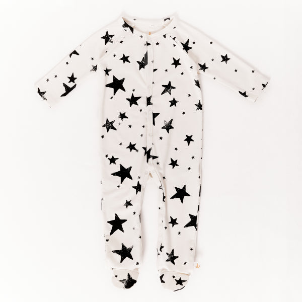 Black Stars Footie Pajama