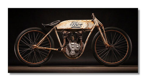 1912 Thor Board Track Racer 48x24 Limited Edition Aluminum Print