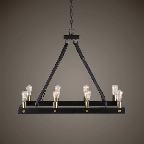 Maggy, 8 Lt Rectangle Chandelier