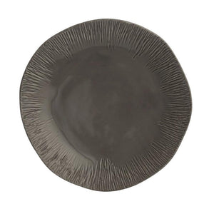 Graffiata Grey Dinner Plate