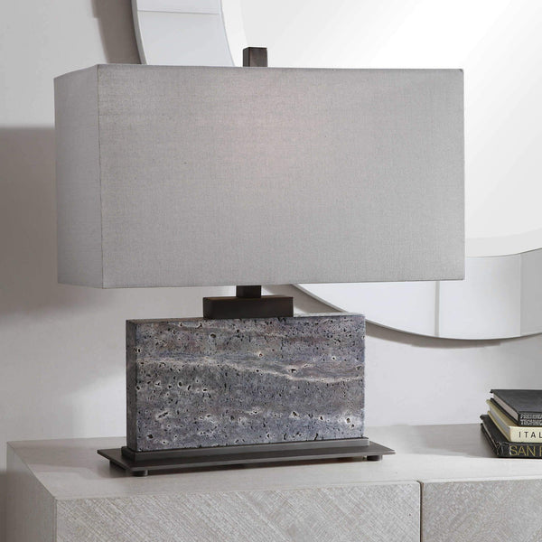 Gray Table Lamp