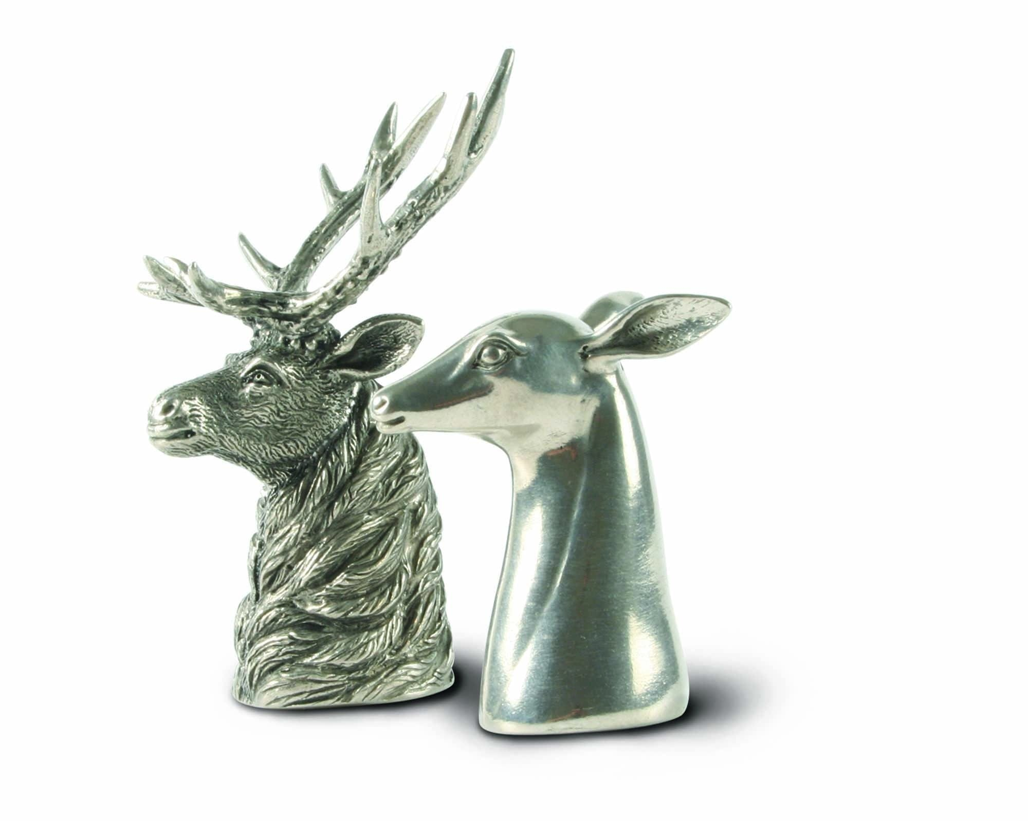 Stag and Doe Pewter Salt and Pepper Set