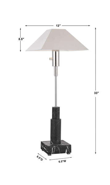 The Nipsey Silver Buffet Lamp