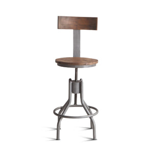 The Learne Industrial Loft Adjustable Stool