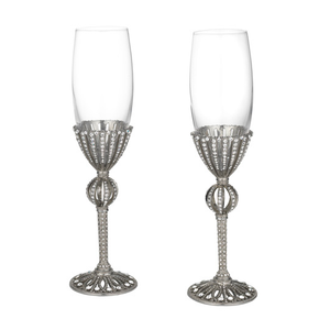Silver Champagne Flutes