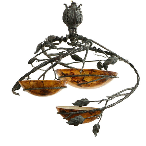The Althea 3 Bowl Shell Chandelier