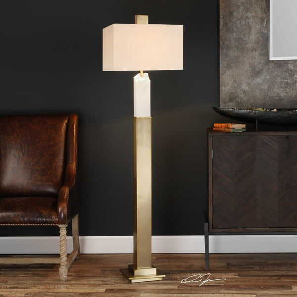 The Melissa Marble Floor Lamp