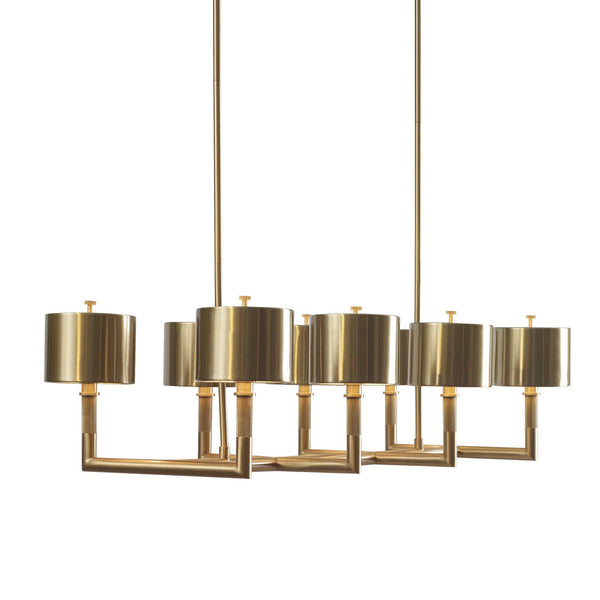 Knotted Chandelier Brass, 8 Lt Linear Chandelier