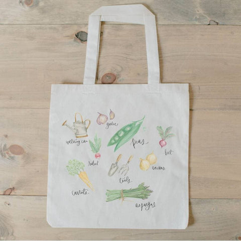 Vegetable Watercolor Tote Bag