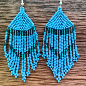 Seed Bead Chandelier Earrings
