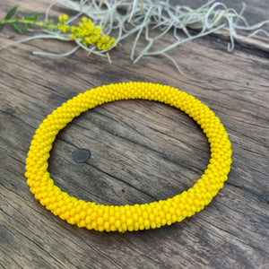 Seed Bead Roll on Bangle
